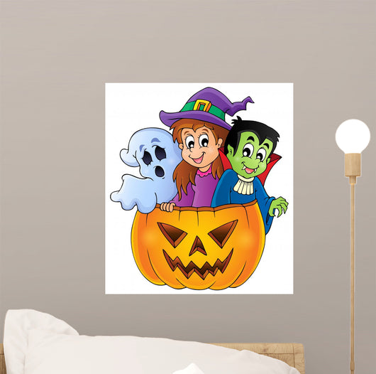 Halloween Characters Wall Decal