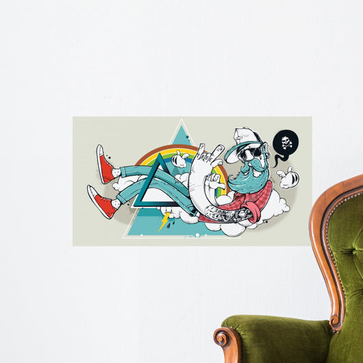 Abstract Graffiti Hipster Wall Decal