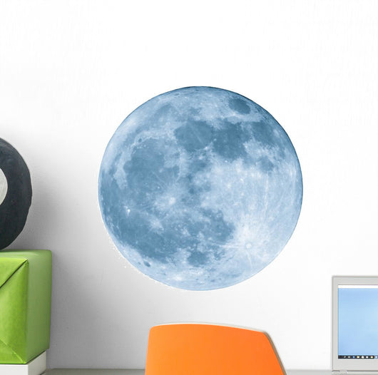 2400mm Blue Full Moon Wall Decal