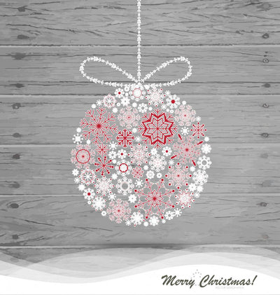 Christmas Ball with Snowflakes Wall Decal