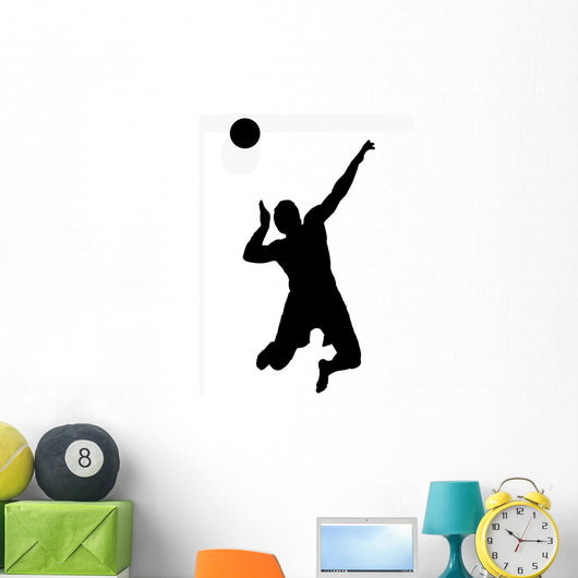 Black Volleyball Sports Silhouette Wall Decal