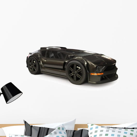 Custom Exotic Sports Car Wall Decal