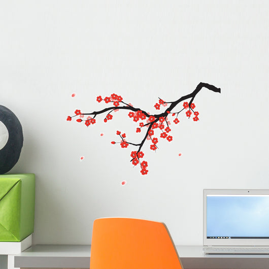 Plum blossom in Chinese painting style Wall Decal