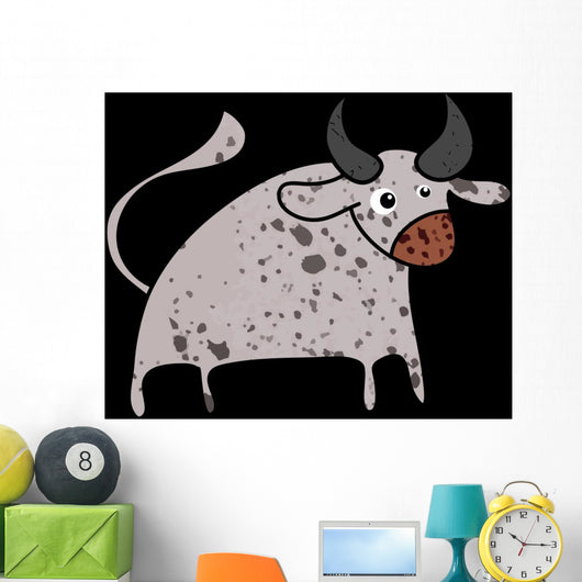 Bull Cartoon Icon. Wall Mural