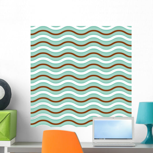 Geometric wave seamless pattern background Wall Mural