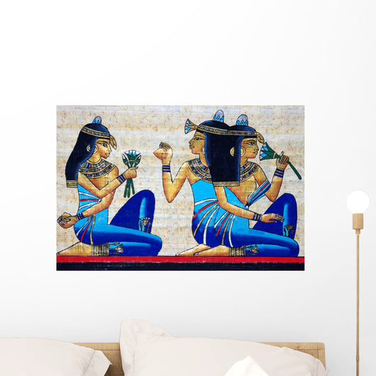 Beautiful Egyptian Papyrus Wall Mural
