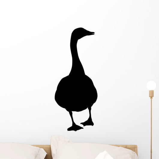 Goose silhouette Wall Decal