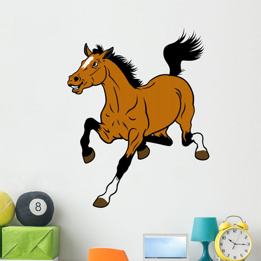 cartoon horse Wall Decal