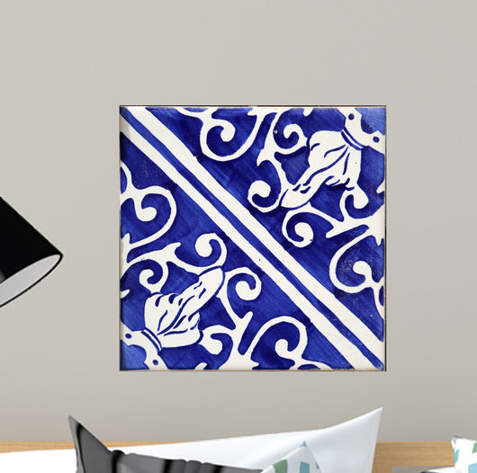 Traditional tiles from Porto, Portugal Wall Mural