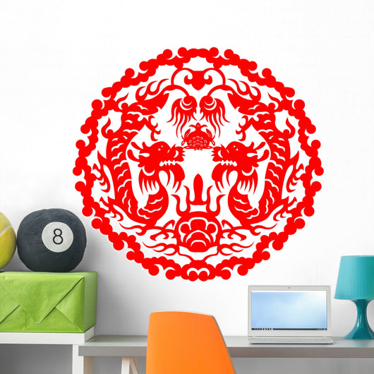 Paper Cut Dragon Wall Decal