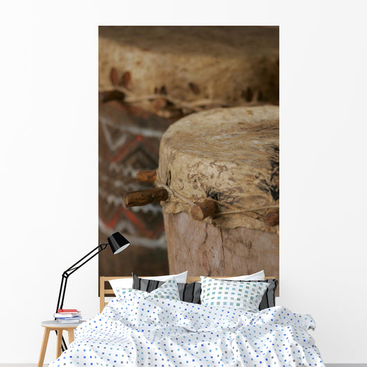 African Tribal Drums Wall Mural