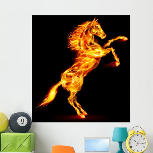 Fire horse rearing up. Wall Decal