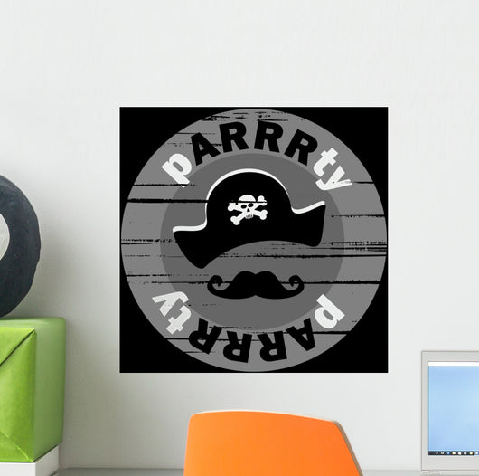 grunge pirate party design