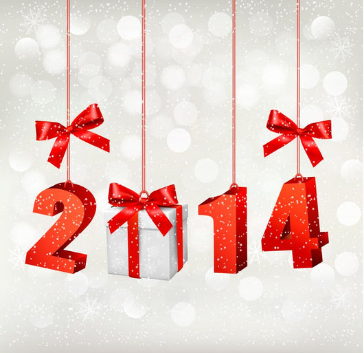 Happy new year 2014! New year design template Vector illustratio