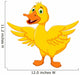 Happy Duck Cartoon Wall Decal
