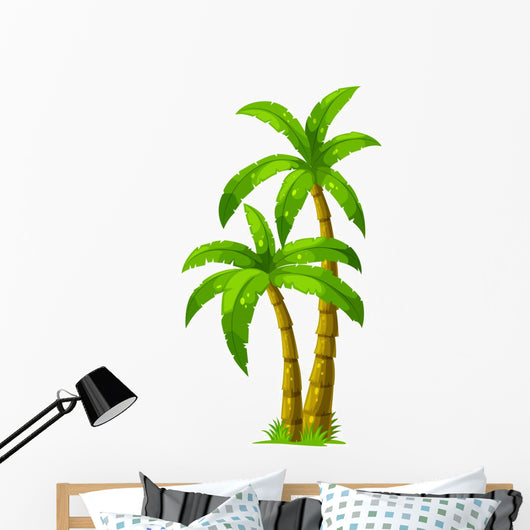 Two Palm Trees Wall Decal