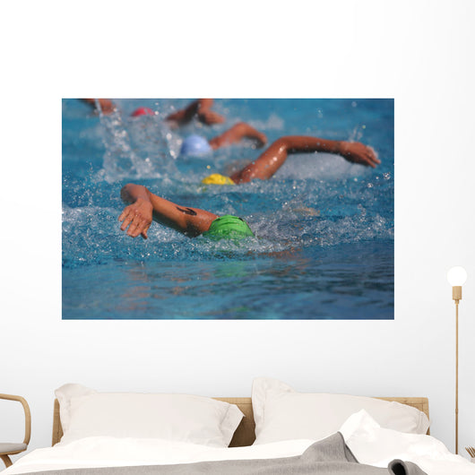 swimmers Wall Mural