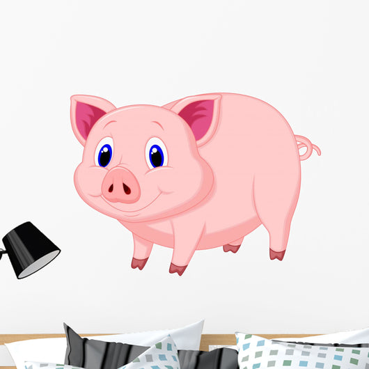 Cute pig cartoon Wall Decal