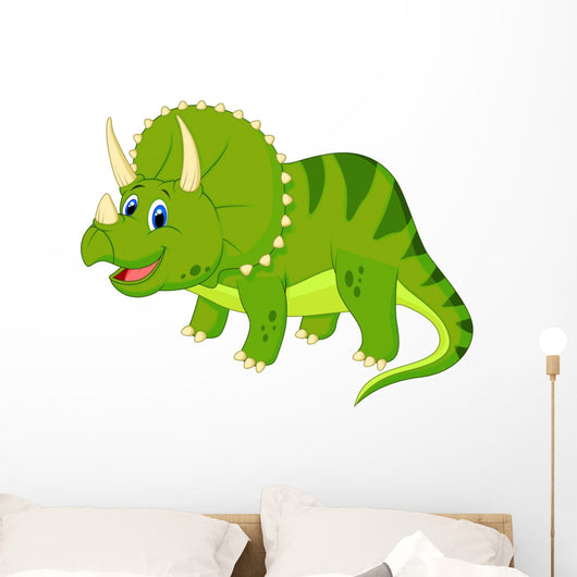 Cute Triceratops Cartoon Wall Decal