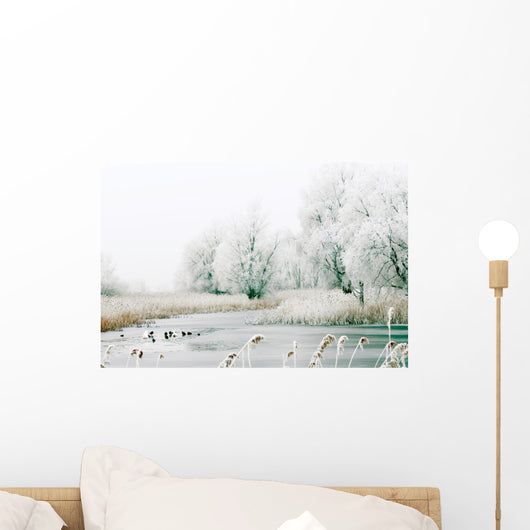 Beautiful Winter Landscape Wall Mural