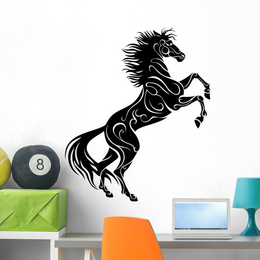 Rearing Horse, Vector Silhouette