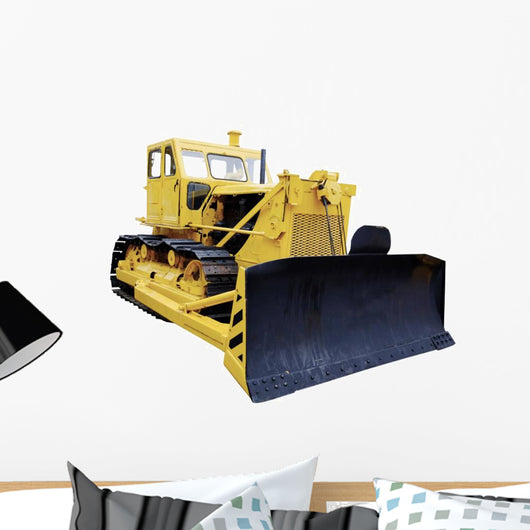 yellow Bulldozer Wall Decal