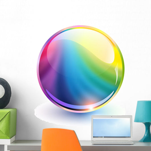 rainbow sphere Wall Decal