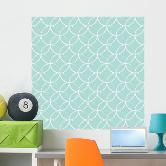 Abstract geometric seamless pattern. Wall Mural