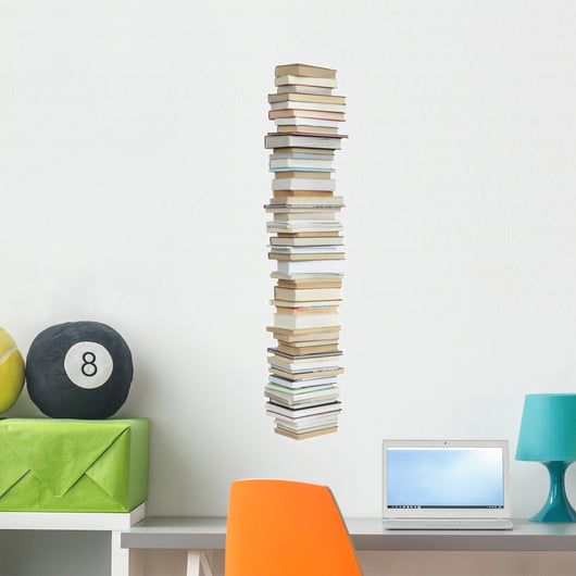 Book Stack Wall Decal