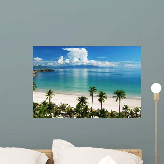 Beach Scene Tropics Pacific Wall Decal