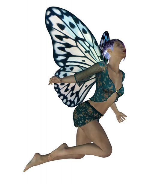 Fairy with blue wings Wall Decal