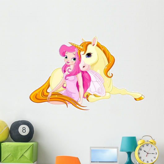 Fairy and Unicorn Wall Decal