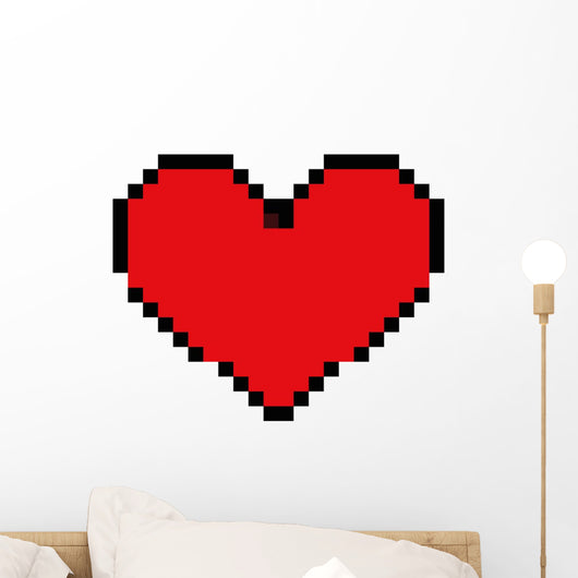 Heart Love 8 Bit Retro Vintage Style