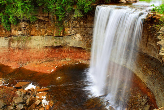 Scenic waterfall in wilderness in Ontario, Canada. Wall Mural