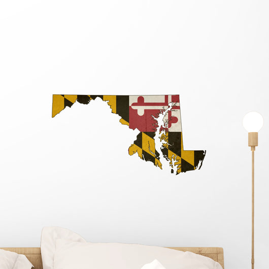 Maryland Flag Map Wall Decal