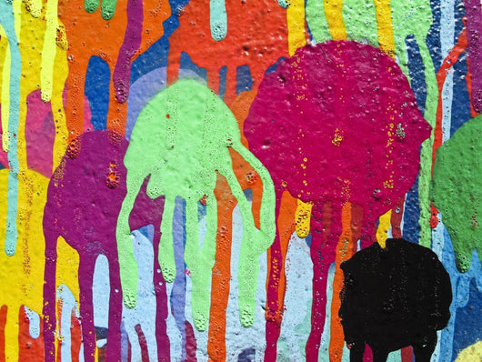 Detail of graffiti paint Wall Mural