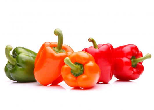 Sweet bell pepper isolated on white background cutout Wall Decal