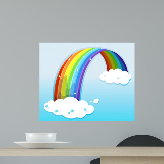 A sky with a sparkling rainbow Wall Mural