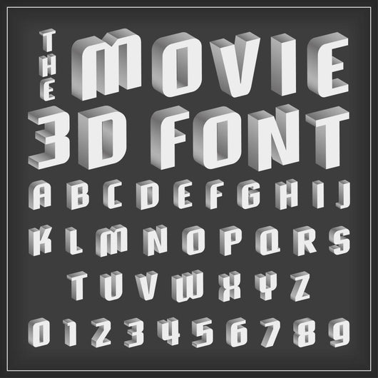 Retro type font, vintage typography with movie style