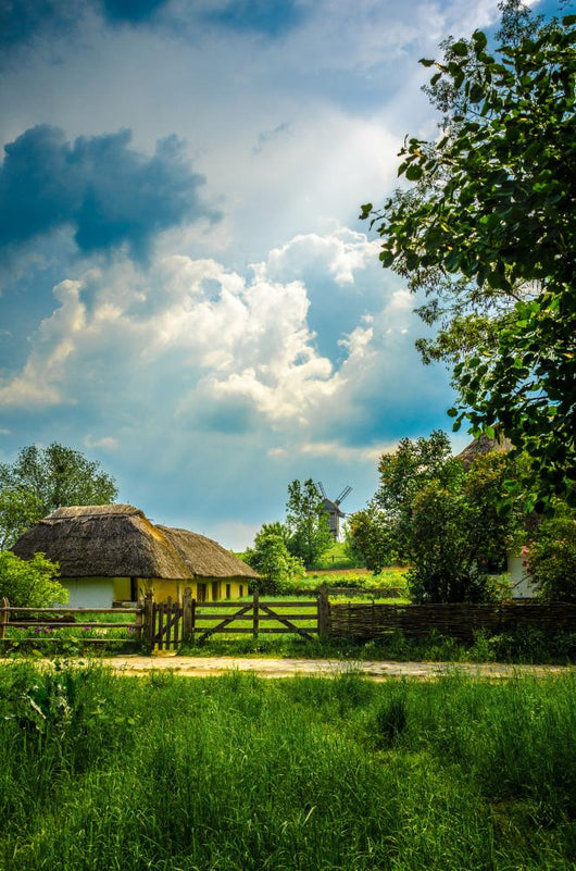 Ancient traditional ukrainian rural cottage