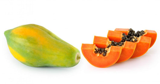papaya isolated on white background Wall Decal