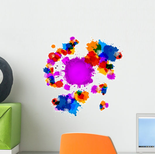 Colorful Vector Stains, Blots, Splashes Background Wall Decal