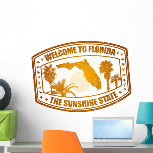 Welcome to Florida stamp Wall Decal