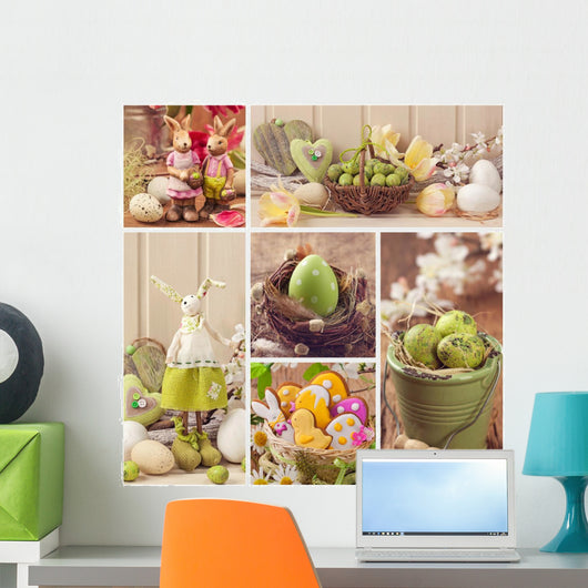 Easter collage Wall Mural