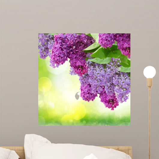 Lilac Flowers Tree Wall Mural