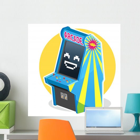 Vintage Arcade Game Wall Decal