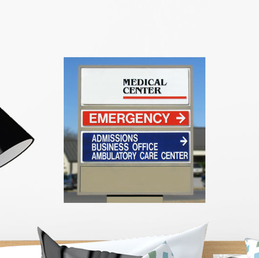 Medical Center Sign Wall Mural