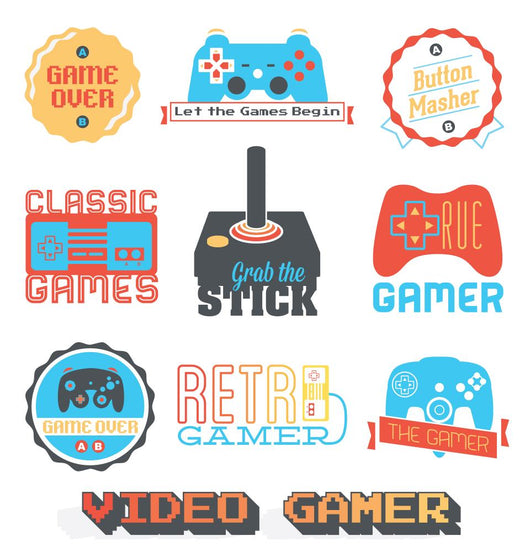 Retro Video Game Wall Decal