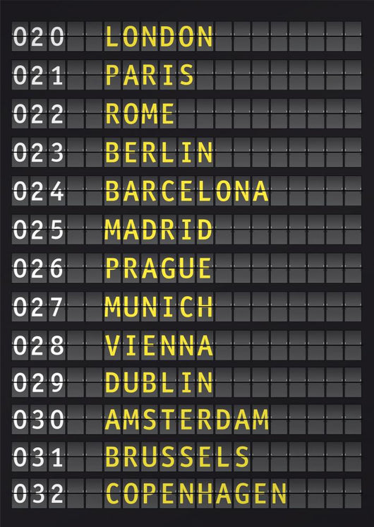airport flight information, travel europe concept