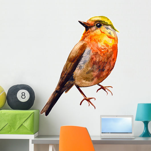 Cute birds for your design. watercolor Wall Decal